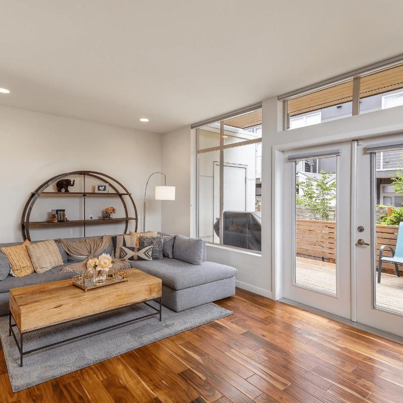 Dark Hardwood Flooring in modern Victoria home
