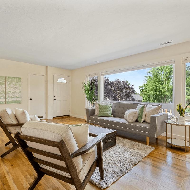 Modern home interior with light hardwood flooring in Victoria